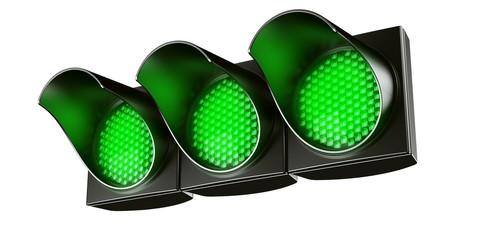 All green traffic light