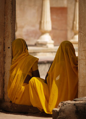 Indian women at Amber fort