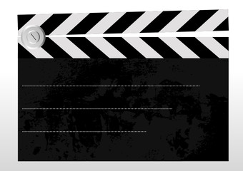 Old grungy clapboard with space for your text - Vector