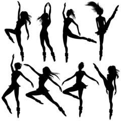 set of woman dancing modern ballet