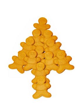 Gingerbread man christmas tree