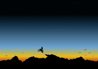 sunset background - vector