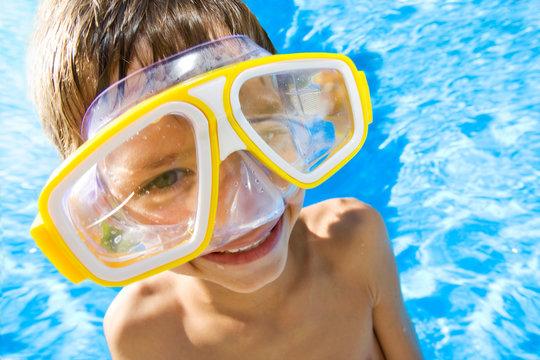 piscine et masque
