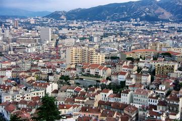 Marseille vue d'en haut, France.