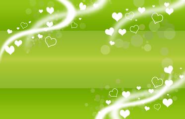 herzen in grün-weiss