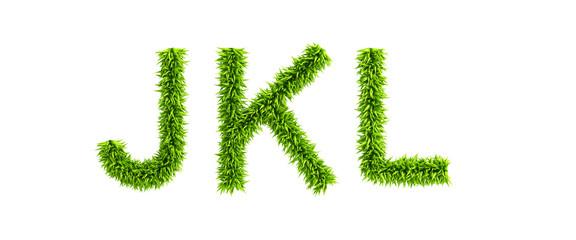 symbolic grassy alphabet