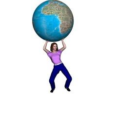 world globe  3d