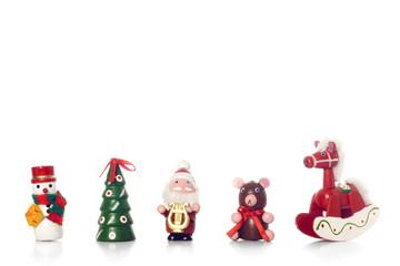 adornos de navidad de madera pintado a mano