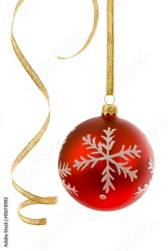 weihnachtskugel mit gewelltem geschenkband stockfotos und lizenzfreie bilder auf. Black Bedroom Furniture Sets. Home Design Ideas