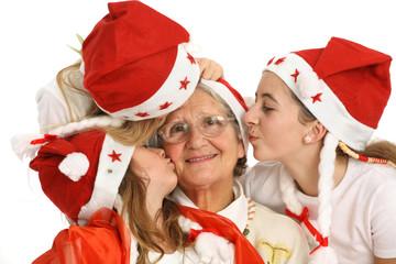 Noël famille avec grand-mère