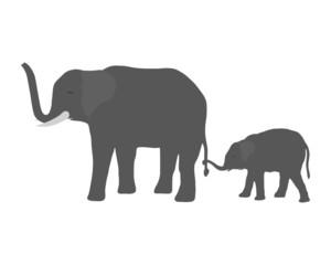 Elefantenkuh mit Jungem