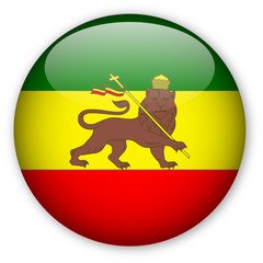 Rastafarian Flag Button