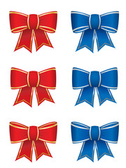 Set of six gift bows