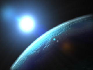 Huge Blue Planet