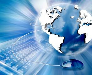 Fototapete - Space business communication