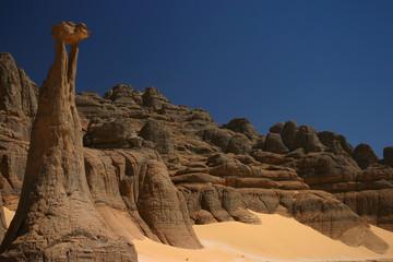 Sculptures de pierre au sahara