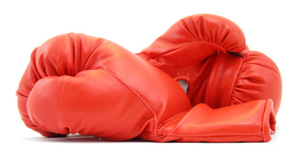 Boxing gloves pair red