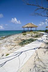 Hut on tropical island