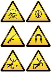 Panneaux métal de danger (détouré)