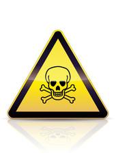 Panneau de danger mortel (reflet)