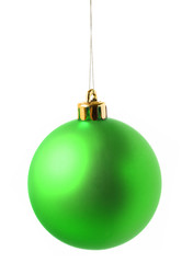 Green christmas decoration ball