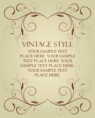 vintage style
