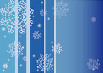 Vector background with snowflakes and place for your text