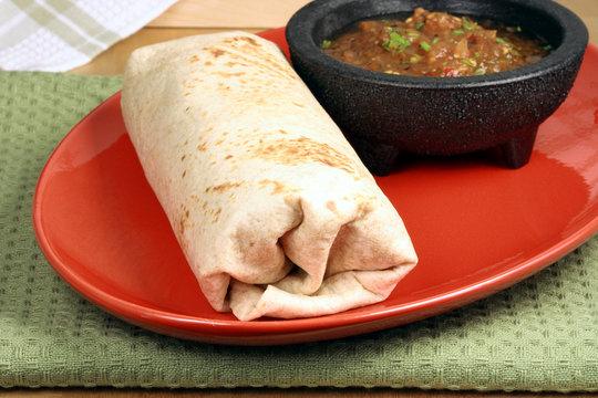 hot mexican burrito