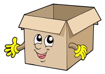 Open cute carboard box