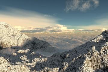 montagne mer de nuages