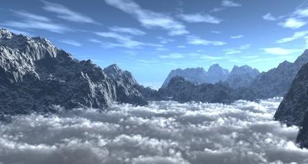 montagne et mer de nuages