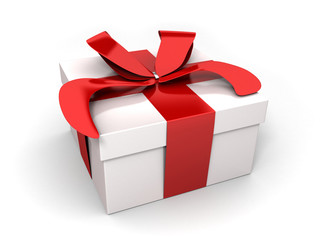 gift, white and red