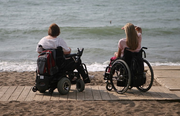people in wheelchair