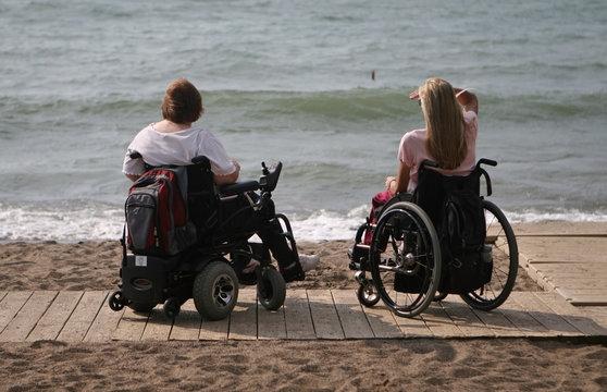 people in wheelchair