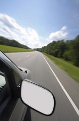 Blank rear view mirror