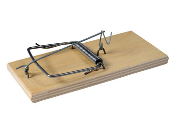 A Mousetrap on a white background, with clipping path.