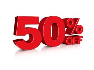 3D 50% off