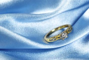 Diamond Ring on blue