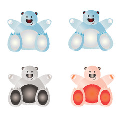 Set of illustrated bears