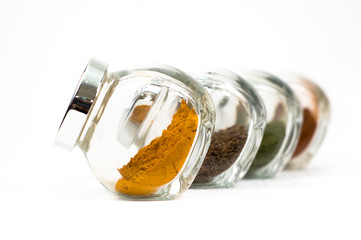 Spices in glass