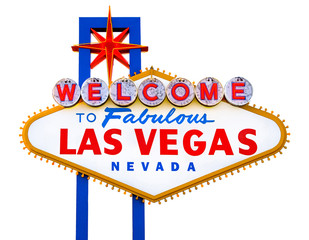 Fotobehang Las Vegas Welcome to Fabulous Las Vegas isolated sign