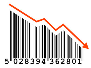 """Falling Prices"" barcode"