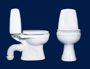 white toilet sanitary isolated