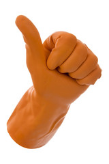 Gloves gesticulates ok