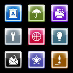 Color screen web icons, set 9