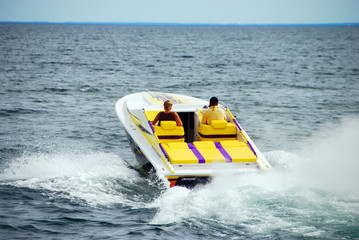 Printed roller blinds Water Motor sports Power Boating