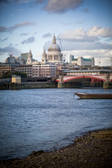 View on St. Paul's Cathedral from embankment