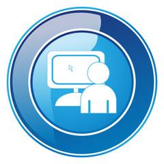 Internetsucht - Button