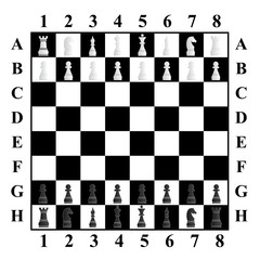 complete chess vector