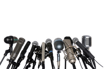 Microphones At Press Conference